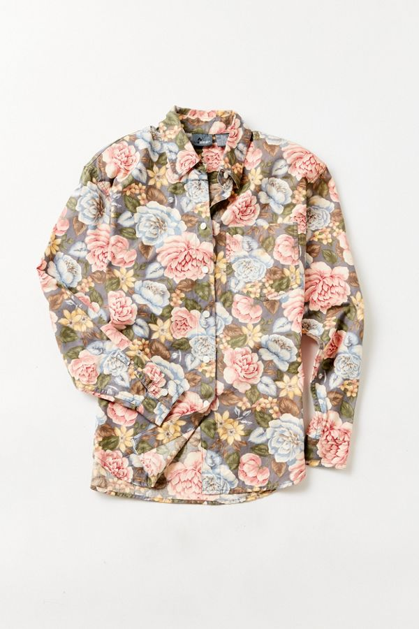 8f507318 Vintage '90s Floral Button-Down Shirt | Urban Outfitters