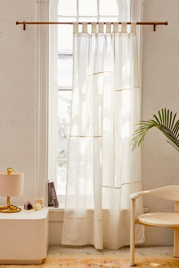 Slide View: 1: Chloe Patchwork Gauze Curtain
