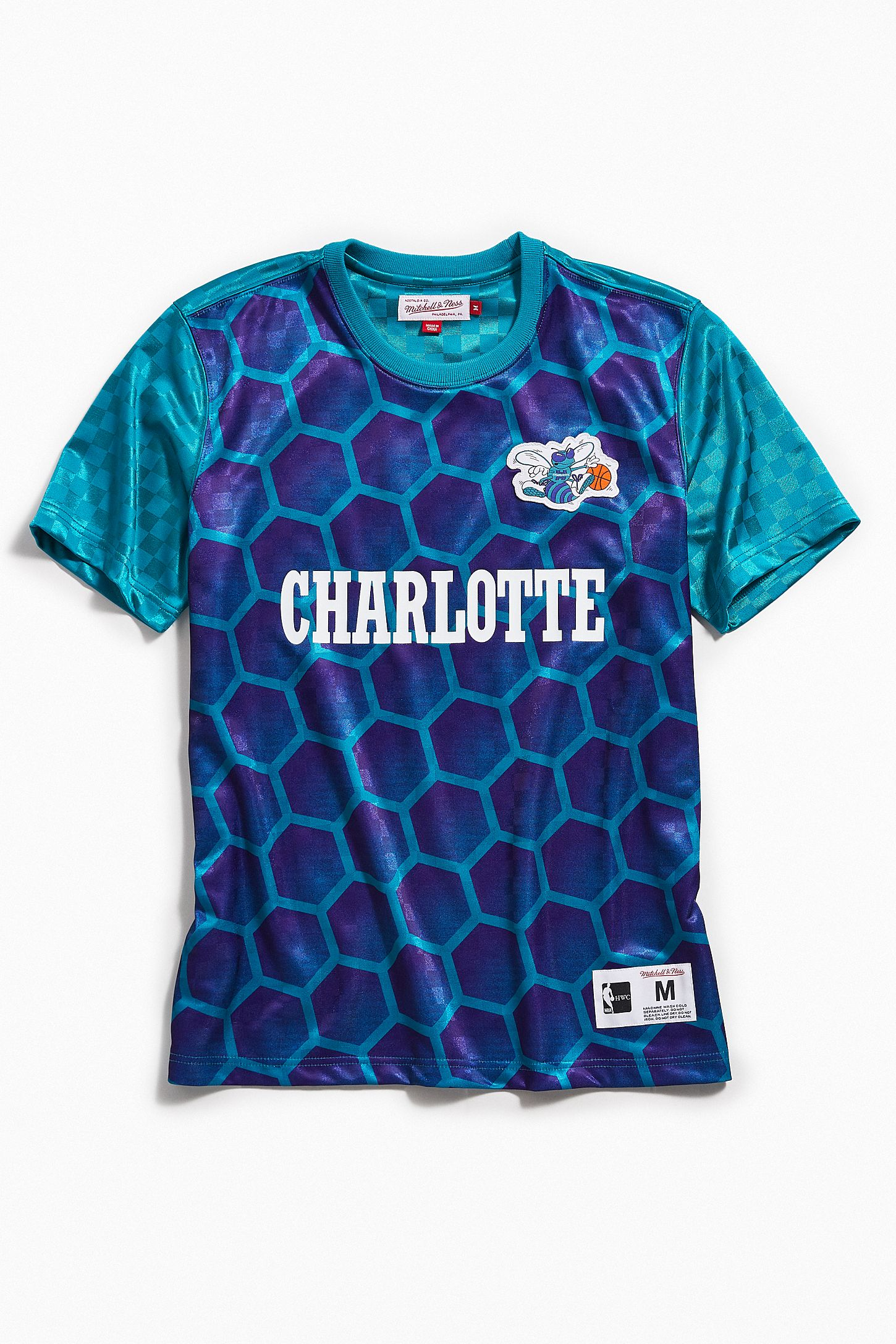 the latest 53809 bec77 Mitchell & Ness Charlotte Hornets Jersey