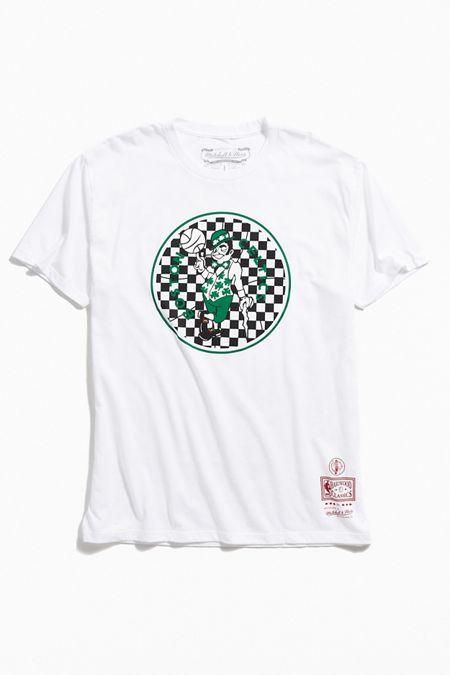 1b2ec0de3 Mitchell & Ness Boston Celtics Checkered Fill Logo Tee