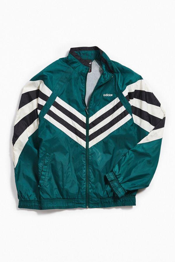 cba4fdd9efb1 Vintage adidas Green + White Windbreaker Jacket