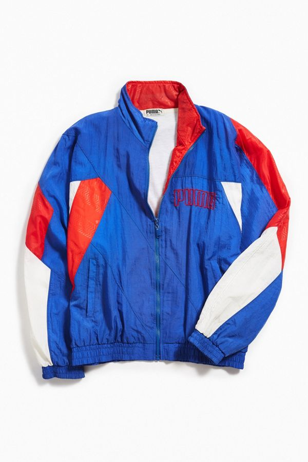 8c33e720d Vintage Puma Red White Blue Windbreaker Jacket