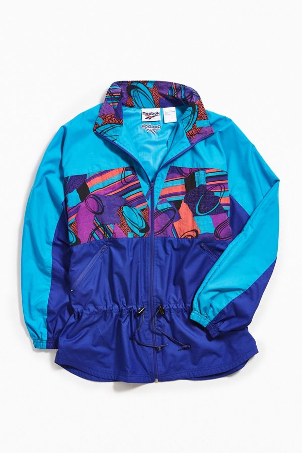 quality products timeless design reliable quality Vintage Reebok Blue Windbreaker Jacket