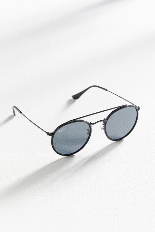 84378ade00533 Slide View  1  Ray-Ban Round Double Bridge Sunglasses