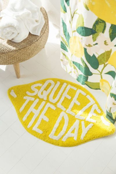 Squeeze The Day Bath Mat Urban Outfitters