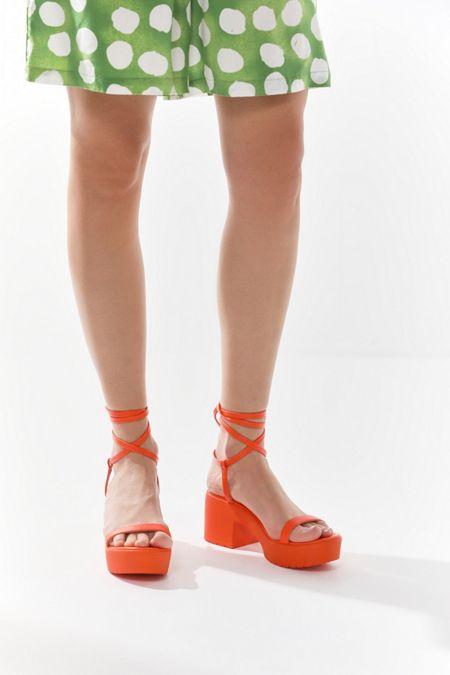 e326051f5a5 UO Claire Lace-Up Platform Sandal