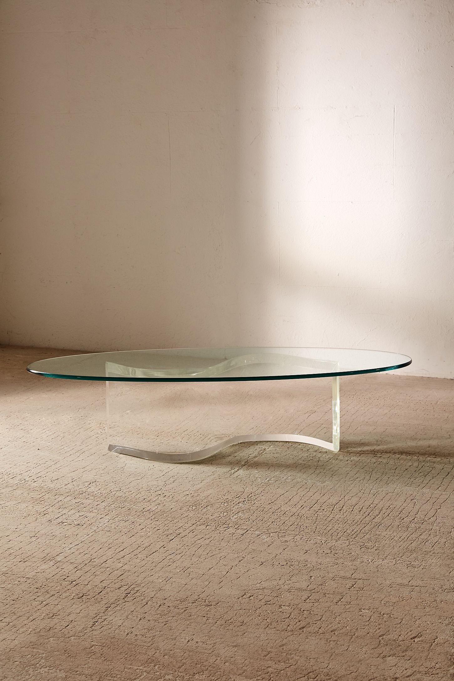 Lucite Coffee Table.Casa Shop For Urban Renewal One Of A Kind S Shaped Lucite Coffee Table