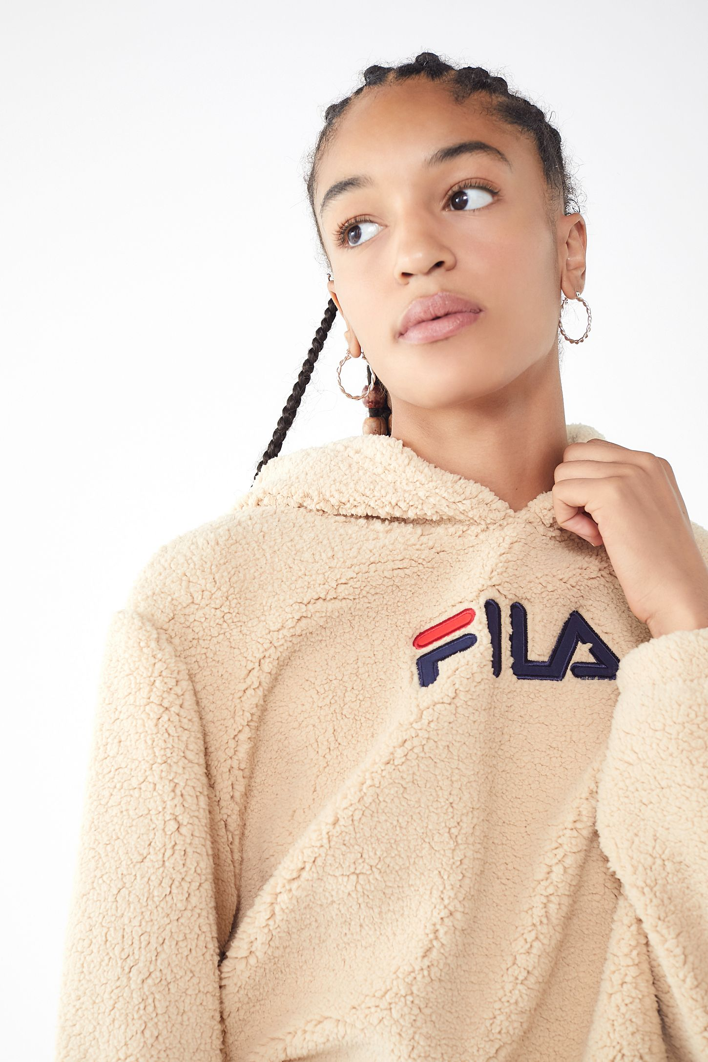 FILA UO Exclusive Teddy Hoodie Sweatshirt