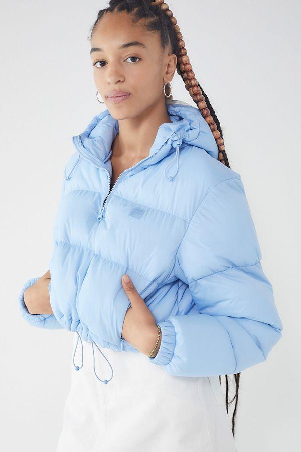 6229838b6a90 Slide View  1  FILA UO Exclusive Nariko Cropped Puffer Jacket