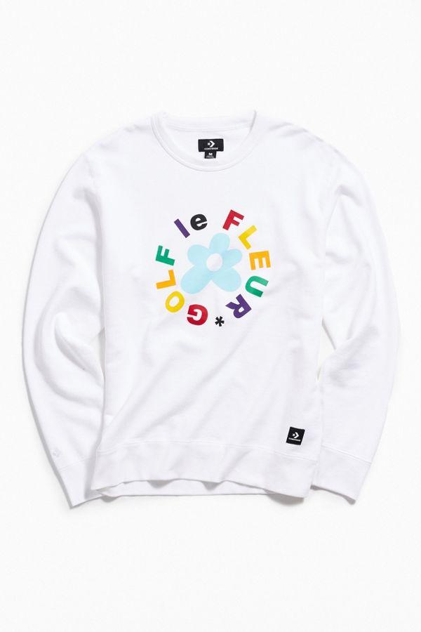 d95c515bee3ed5 Converse X Golf Le Fleur Essentials Crew Neck Sweatshirt
