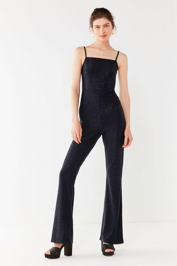 0a6b2498fb62 UO Iris Square-Neck Glitter Jumpsuit