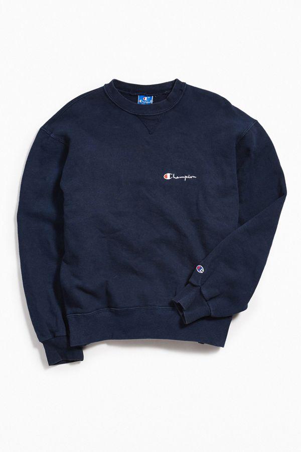 8fe8739a6652 Vintage Champion Navy Crew Neck Sweatshirt