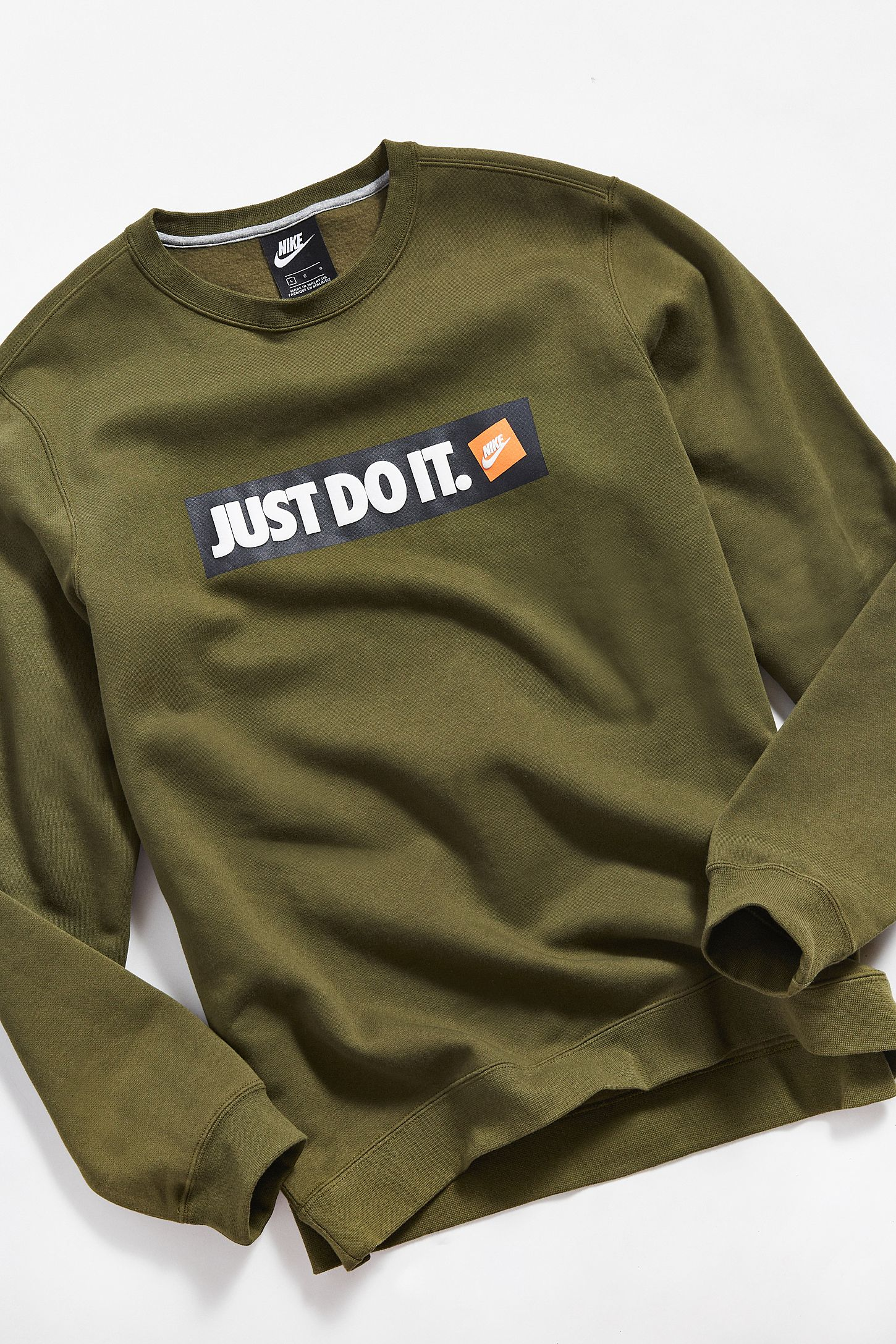 aa14373f Nike Just Do It Crew-Neck Sweatshirt | Urban Outfitters