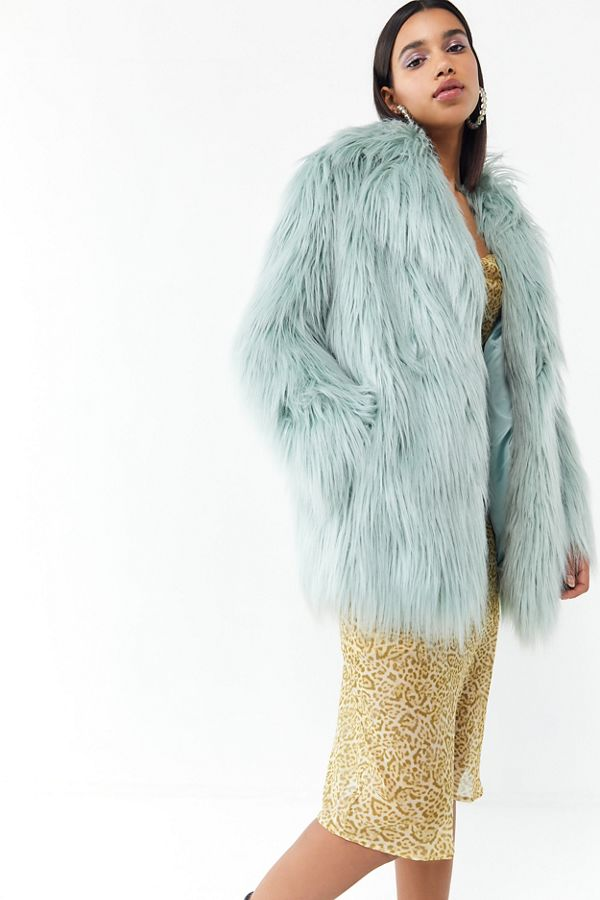 0ee6efd30 Jakke Heather Mongolian Faux Fur Coat | Urban Outfitters