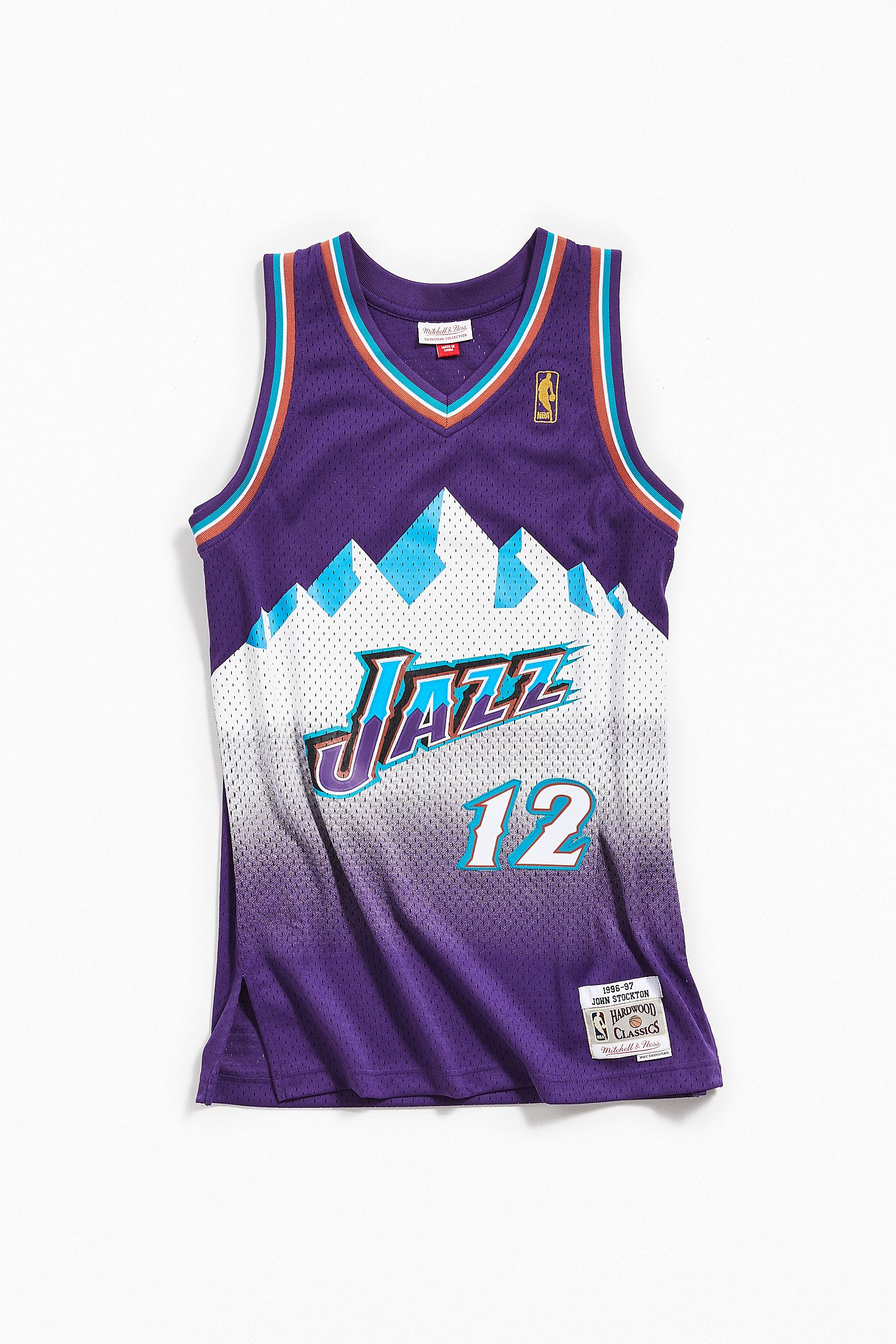 f02a3959d237 Mitchell   Ness John Stockton 1996-97 Road Utah Jazz Swingman Jersey. Tap  image to zoom. Hover to zoom. Double Tap to Zoom
