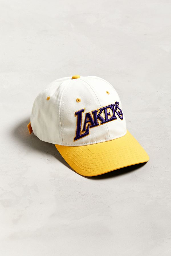 4b003115611b57 Mitchell & Ness Los Angeles Lakers Two-Tone Baseball Hat | Urban ...