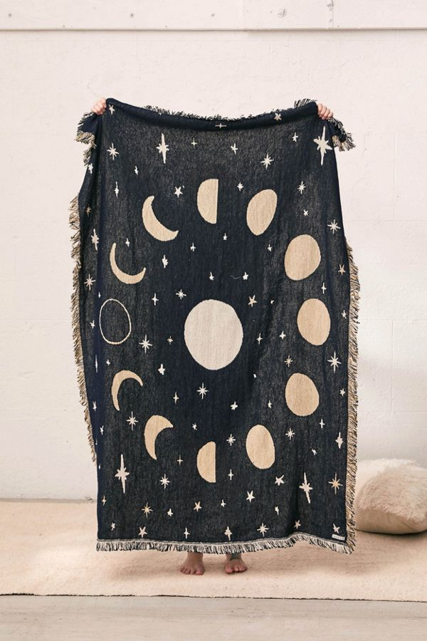 Calhoun & Co  Moon Phases Throw Blanket