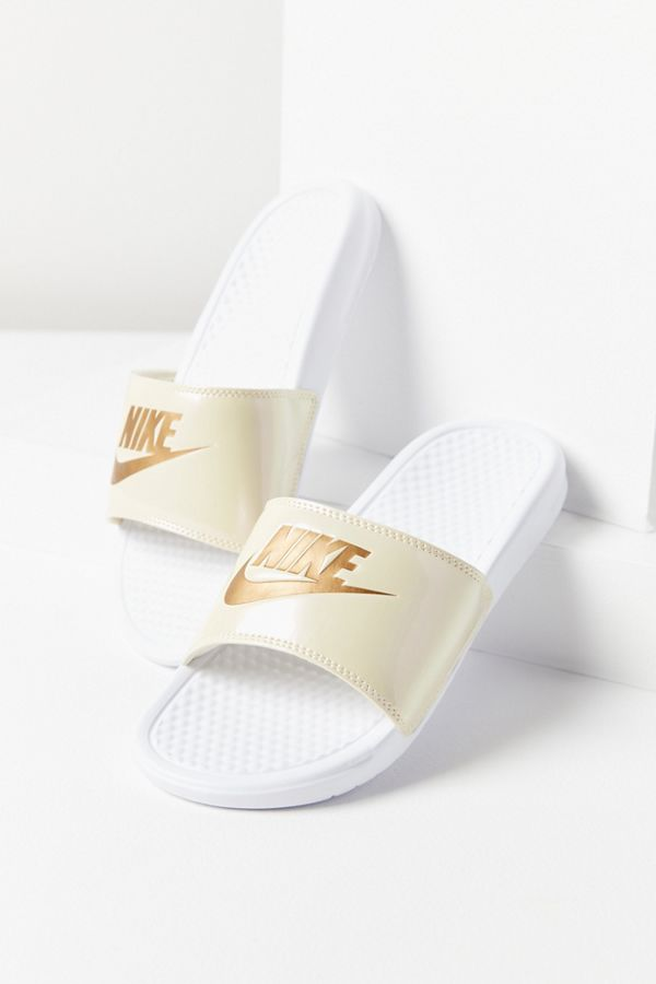 da5330d85aba Slide View  1  Nike Benassi JDI Metallic Slide Sandal