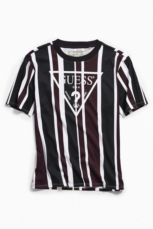 6faf3378d9 GUESS UO Exclusive Rexford Striped Tee | Urban Outfitters