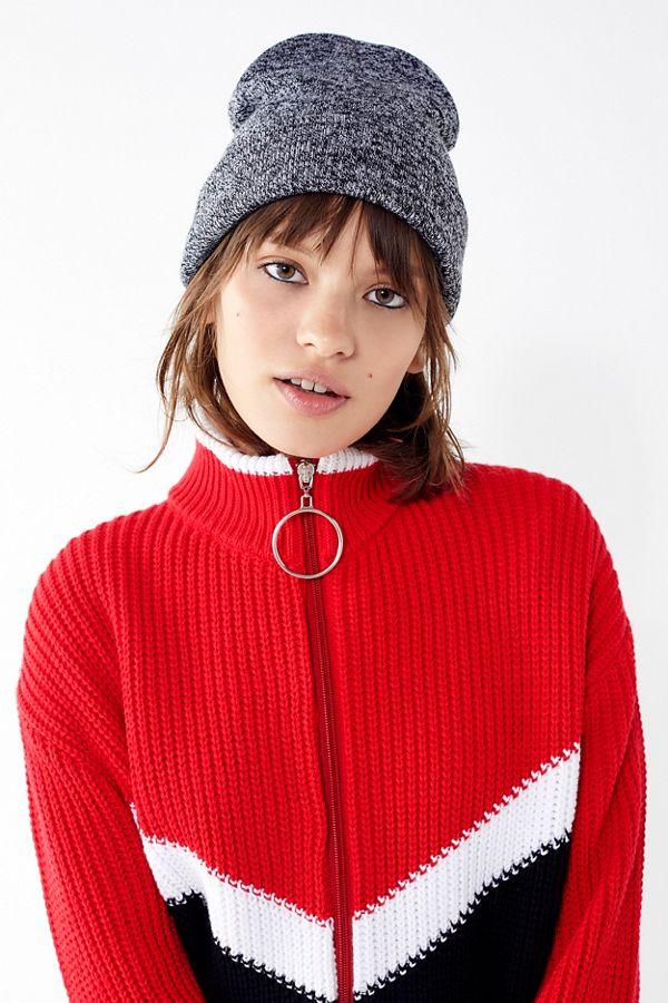 10518d479c1 Jersey Knit Basic Grey Beanie