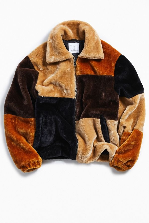f38aa9677 UO Patchwork Faux Fur Jacket