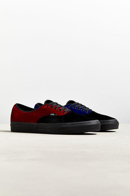 6b9929017f4 Vans Authentic Colorblock Velvet Sneaker