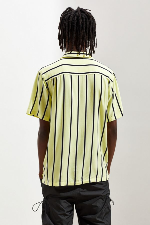 c0be170a7 UO Sport Striped Rayon Short Sleeve Button-Down Shirt | Urban Outfitters