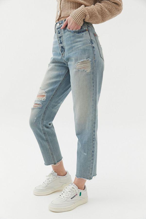 b673b8404d9f9 Slide View  3  BDG High-Rise Slim Straight Jean - Light Denim