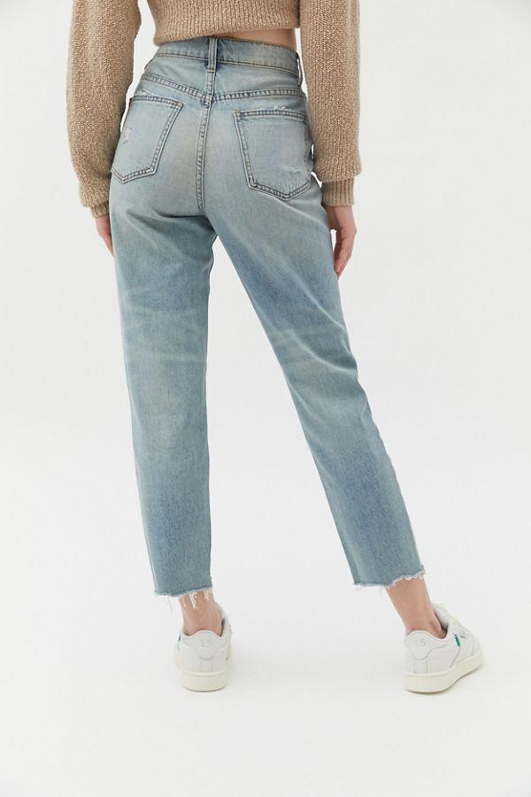 aea706d1 BDG High-Rise Slim Straight Jean - Distressed Light Wash