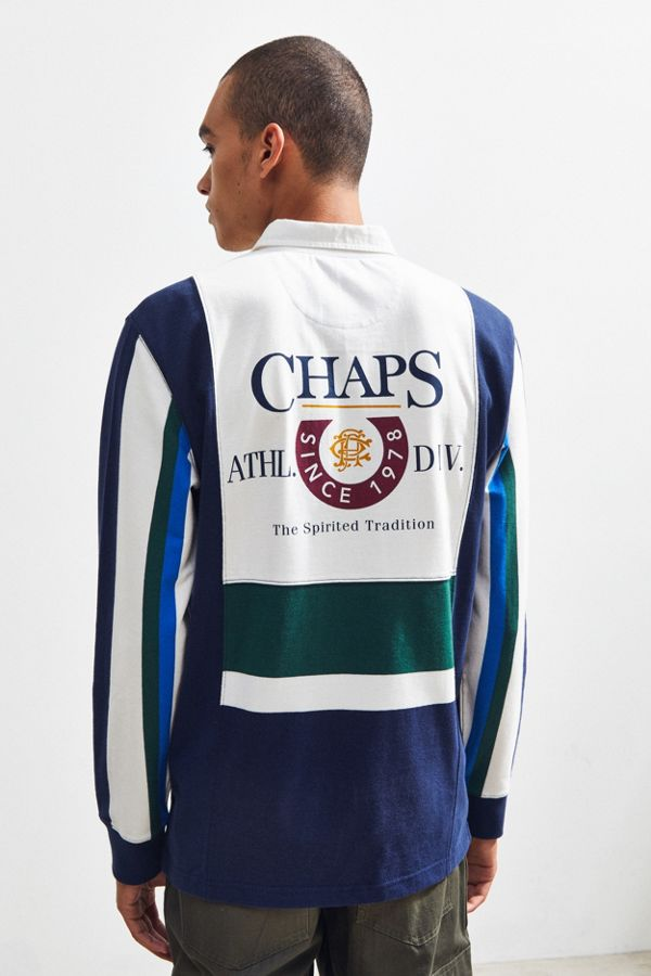 f310fe47551 Chaps Colorblock Rugby Shirt | Urban Outfitters