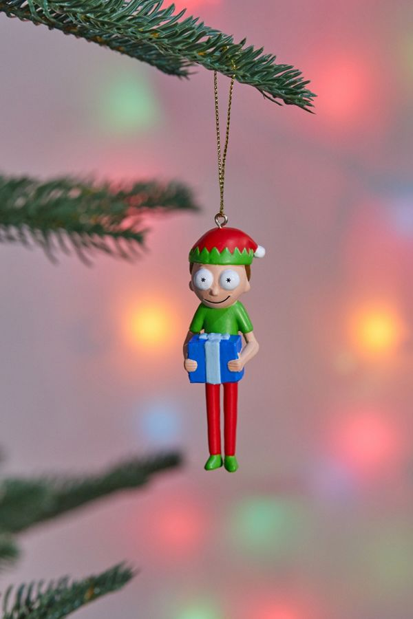 Rick And Morty Christmas Ornaments.Elf Morty Christmas Ornament