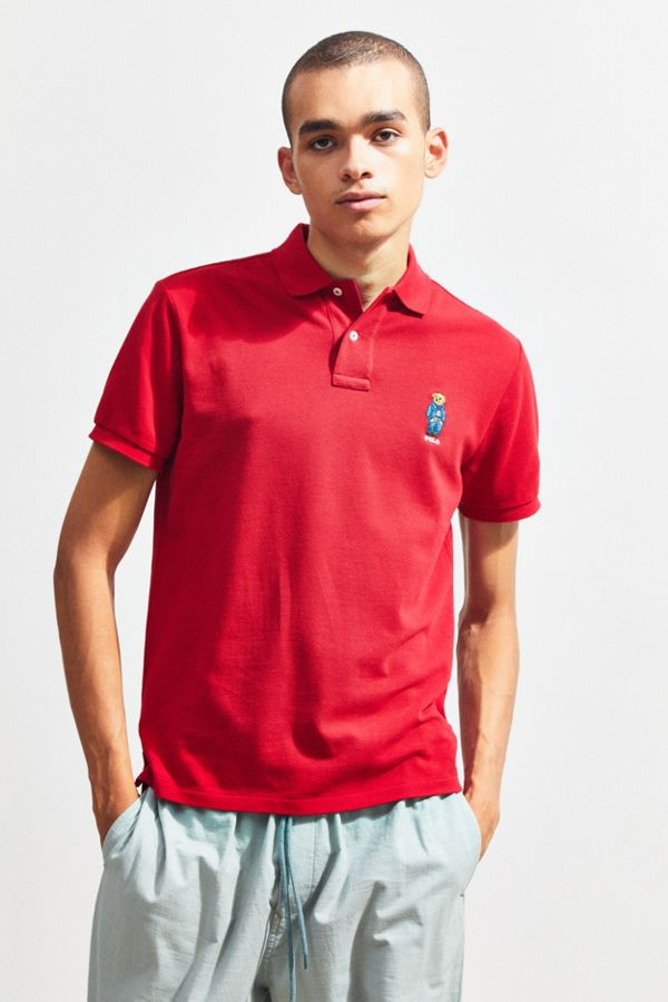 7baa68ee8 Polo Ralph Lauren Embroidered Bear Polo Shirt | Urban Outfitters