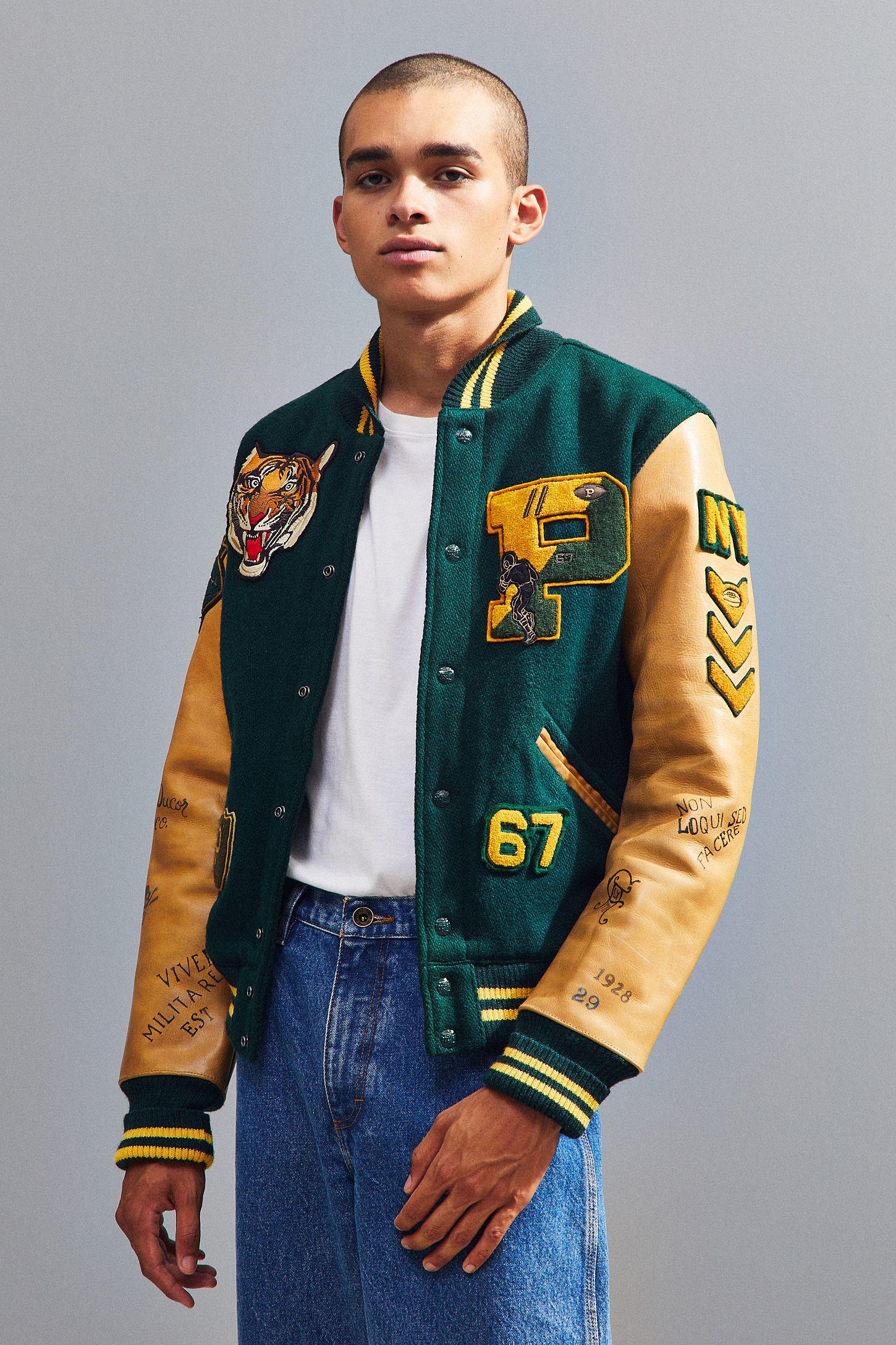 72e3a78dff59 Polo Ralph Lauren Letterman Jacket
