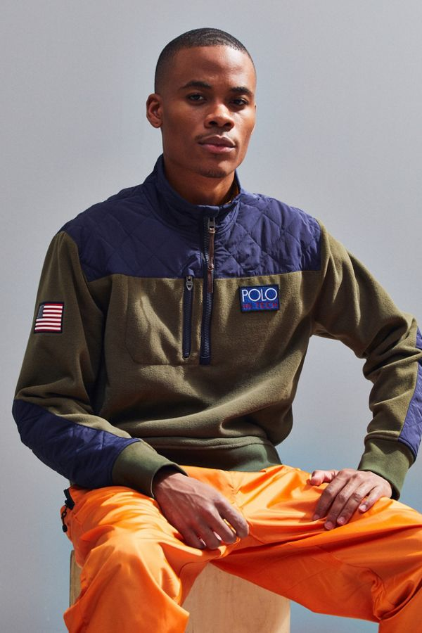 Polo Ralph Lauren Fleece Hi-Tech Hybrid Pullover Jacket