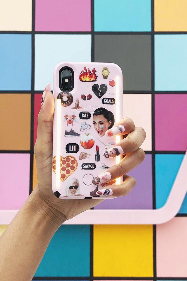 online store 47f07 15b17 LuMee Duo Kimoji Pink Collage iPhone 8/7/6 Case
