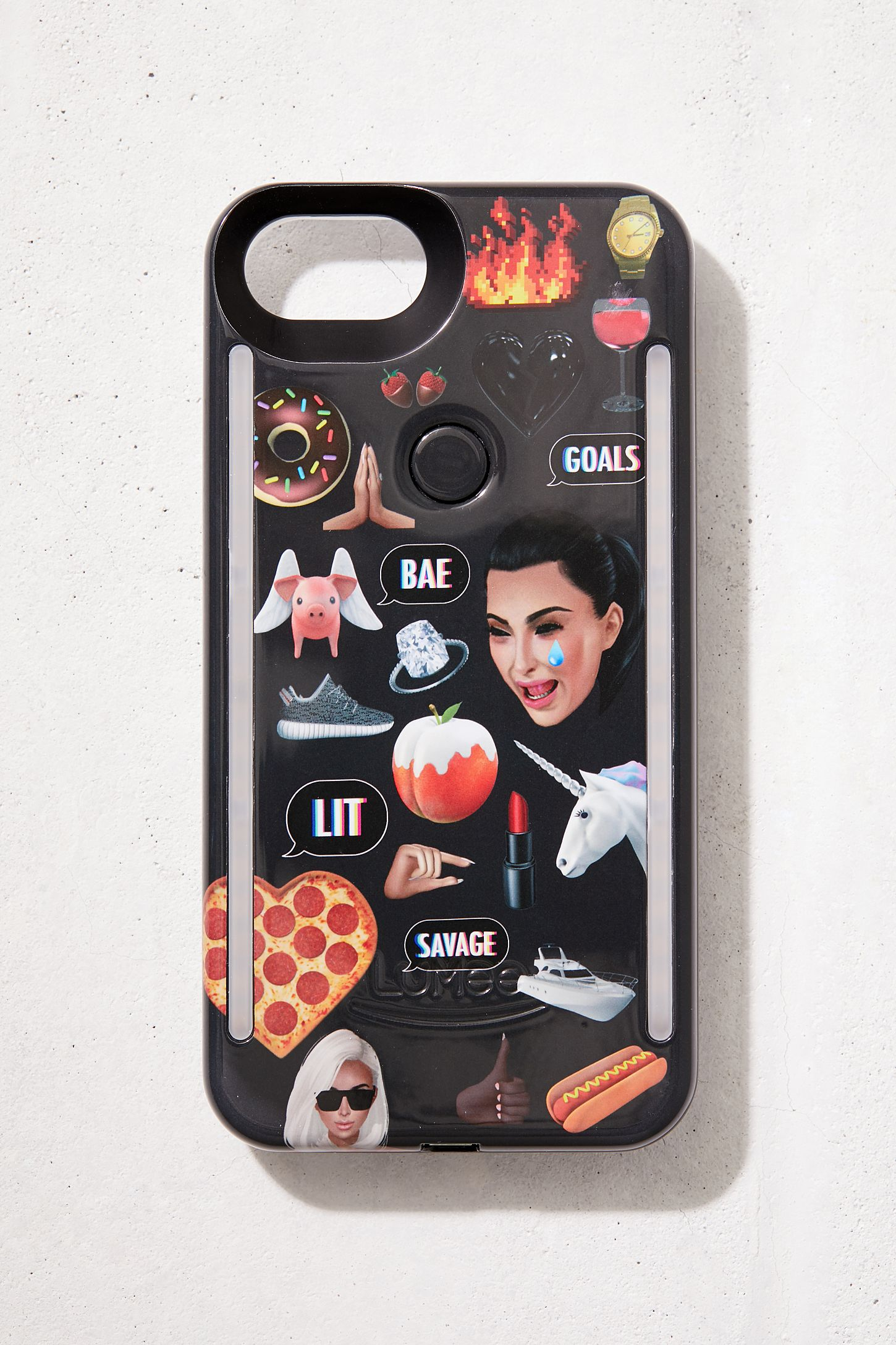 online retailer 9e7de 6296c LuMee Duo Kimoji Collage iPhone 8/7/6 Case