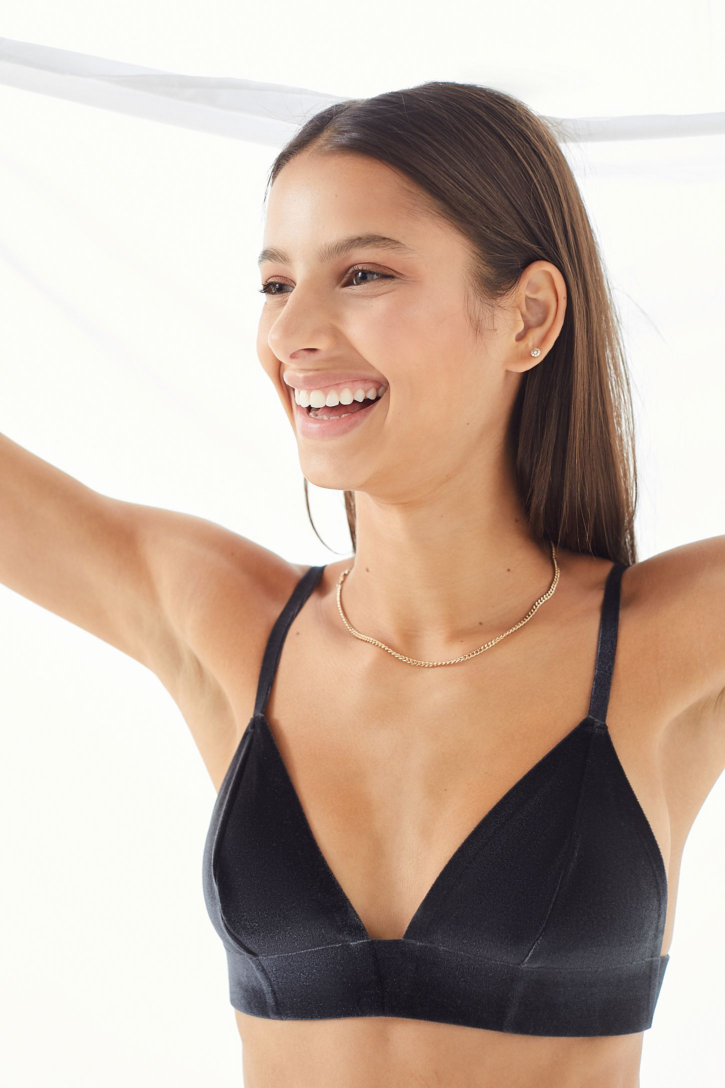3ec729d898c4 Out From Under Fusion Velvet Triangle Bra | Urban Outfitters Canada