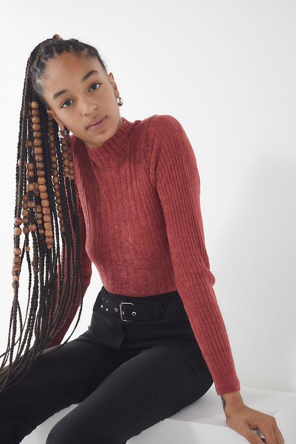 0ceefcf2c UO Plush Chenille Mock-Neck Sweater
