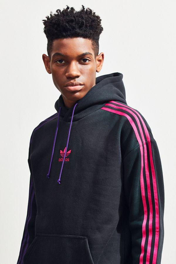 adidas 3 stripe hoodie