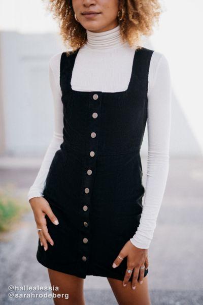UO Courduroy Button Down Mini Dress