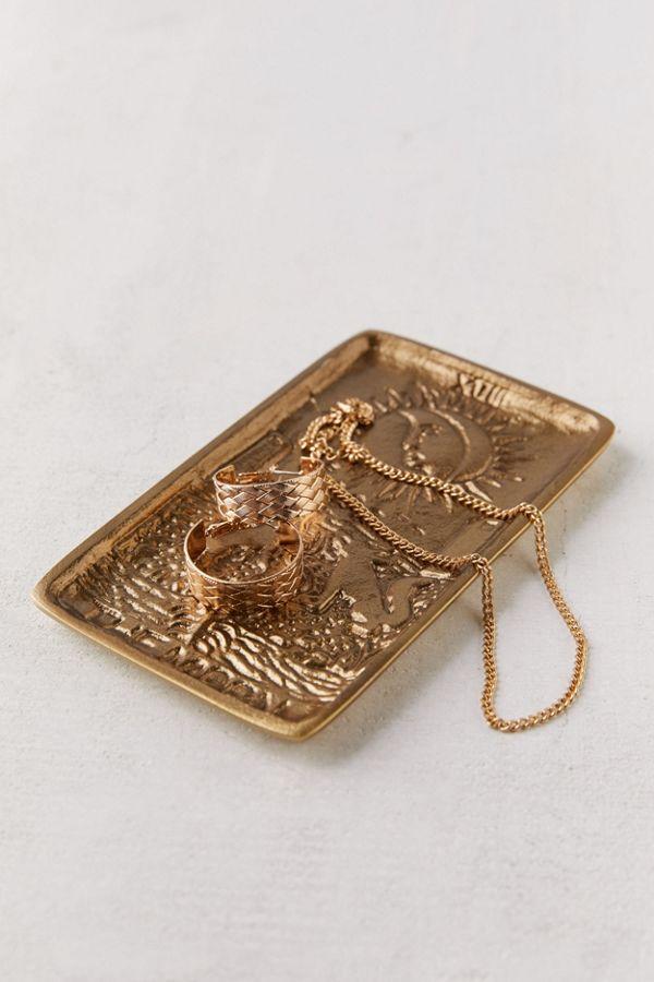 Slide View: 2: Tarot Card Brass Catch-All Dish