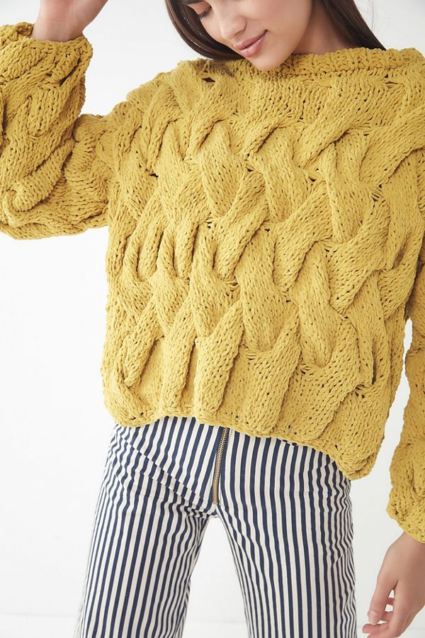 752af8d48ef5 UO Hand Knit Cable Pullover Sweater