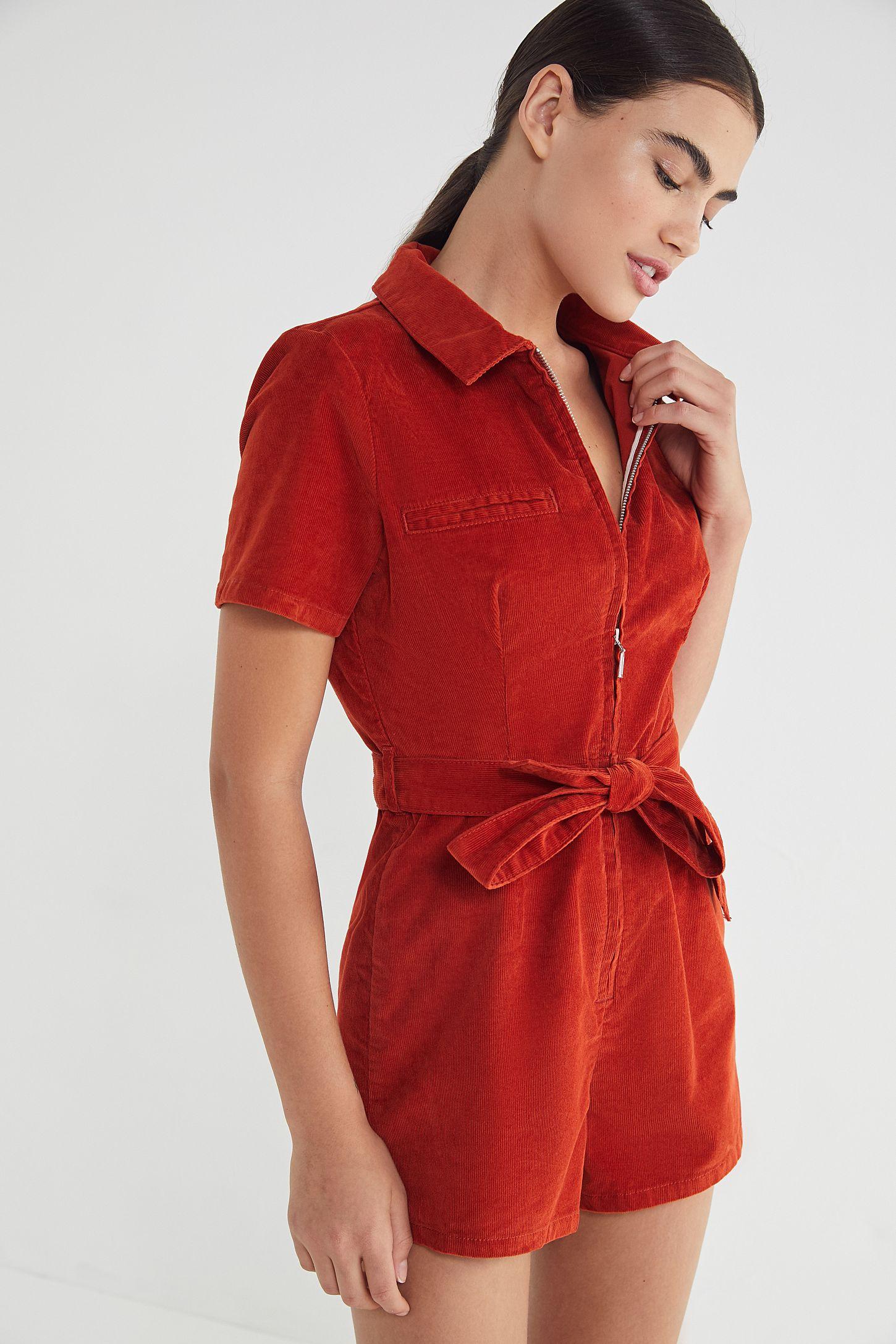 4915fb750 BDG Hello Sunshine Corduroy Romper | Urban Outfitters Canada