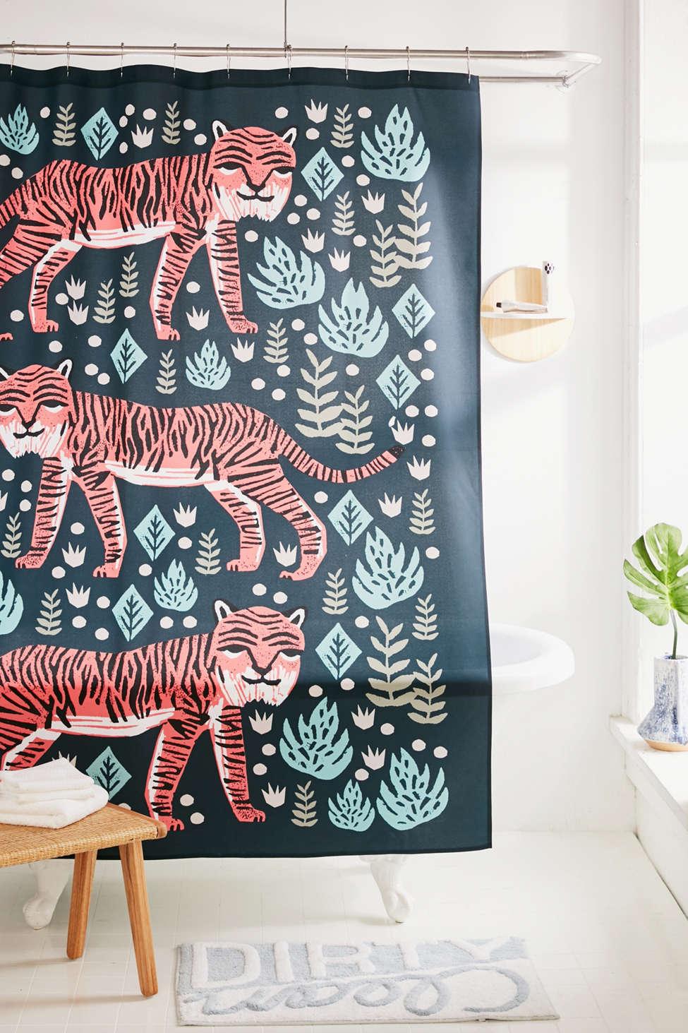 Slide View: 1: Andrea Lauren For Deny Safari Tiger Shower Curtain