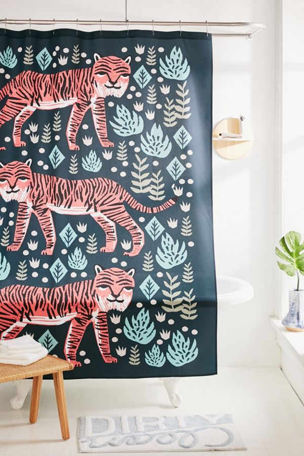 Slide View: 1: Andrea Lauren For Deny Safari Tiger Shower Curtain