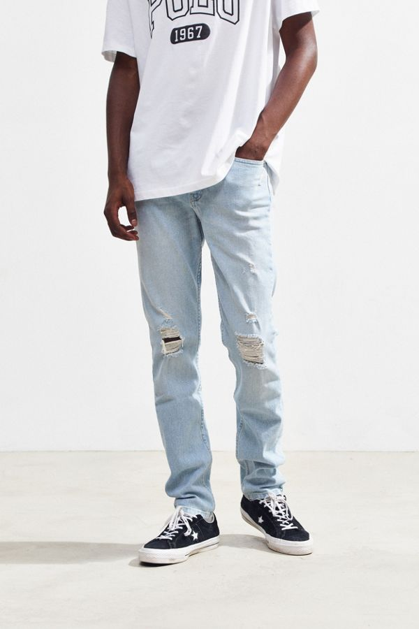 8bdb40e5204 BDG Light Wash Destructed Skinny Jean | Urban Outfitters Canada