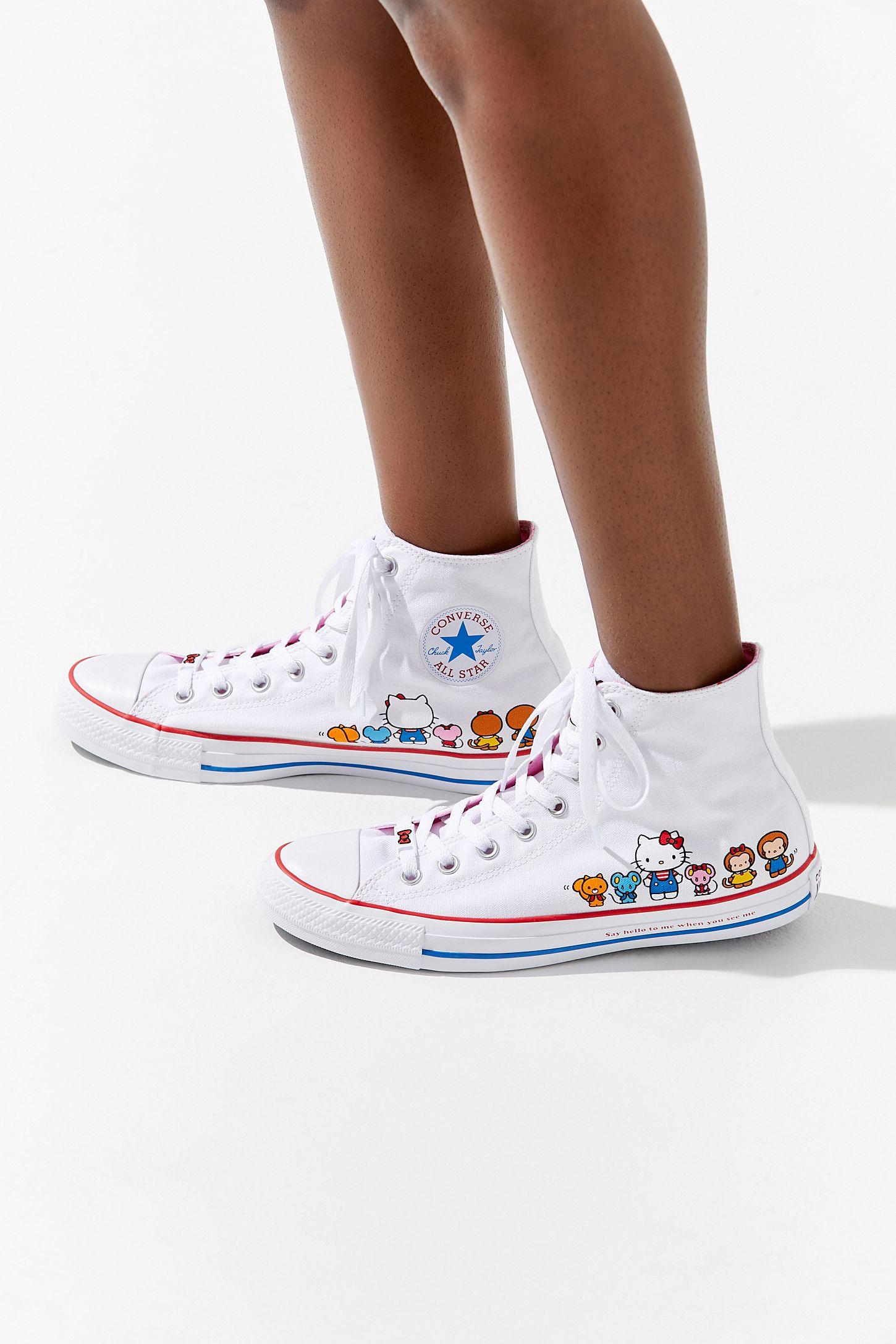 3b4eeb9544b6 Converse X Hello Kitty Chuck Taylor All Star High Top Sneaker ...