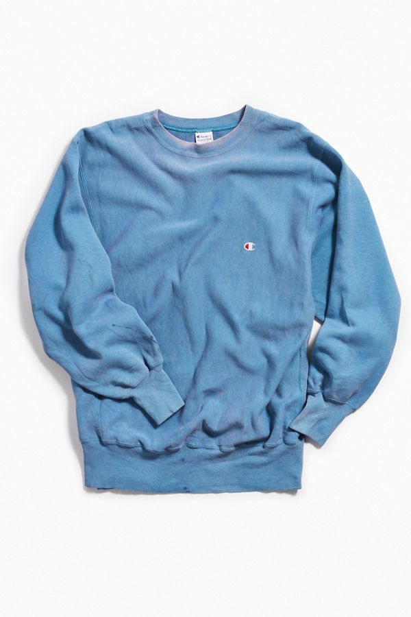 89c4e59b78c8 Vintage Champion Sky Blue Crew Neck Sweatshirt | Urban Outfitters