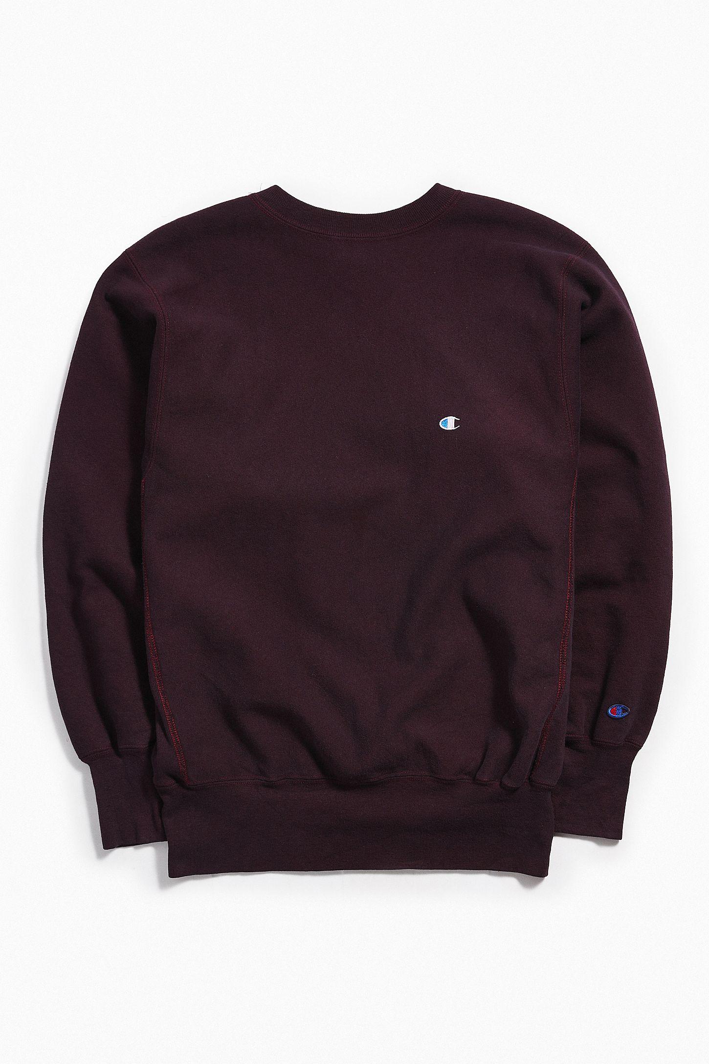 Vintage Champion Burgundy Crew Neck Sweatshirt