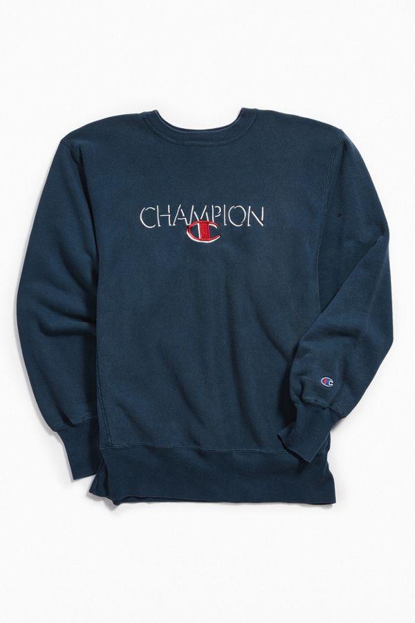 c9c443e8c613 Vintage Champion Navy Crew Neck Sweatshirt